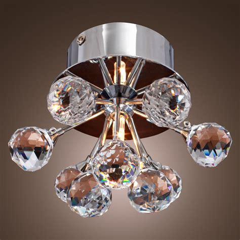 crystal flush mount light fixture modern floral shape crystal ceiling light fixture flush