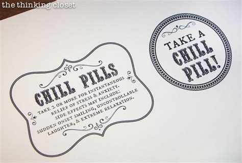 Chill Pills chill pills gift free printable labels gifts