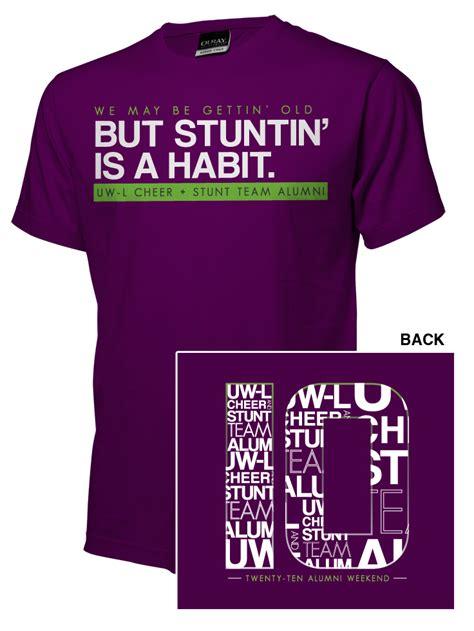 design t shirt for alumni vote cheer stunt team alumni weekend t shirts fashion