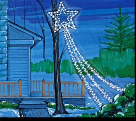 christmas shooting star lights new shooting outdoor light decor whimsy tree yard garden ebay