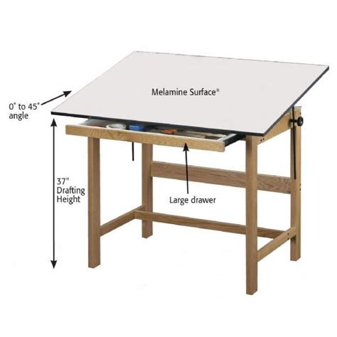 Free Drafting Table Plans with Alvin Wtb48 Titan Wooden Drafting Table The 4 Post Alvin Titan Drafting Table The Finest