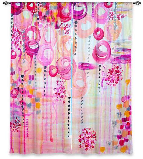 Girly Window Curtains Decorating Bubblegum Pop Girly Pink Swirls Nursery By