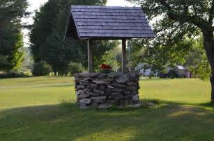 Old Fashioned Photo Albums Stone Wishing Well