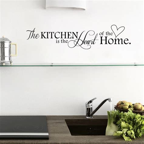 kitchen heart word removable wall stickers vinyl art decor