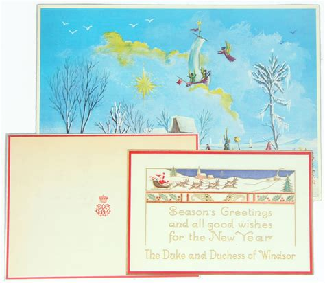 Windsor Gift Card - three seasons greetings duke and duchess of windsor christmas cards