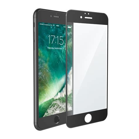 iphone 8 7 plus cover tempered glass screen protector black