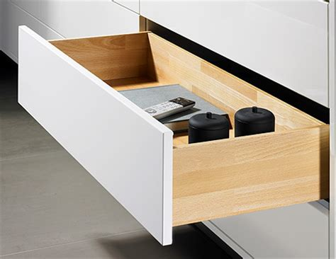 Open Drawer by With Mechanically Assisted Opening System Hettich