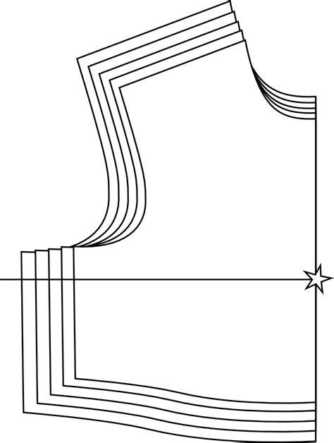 digital pattern grading the design loft grading vocabulary nest and stack point