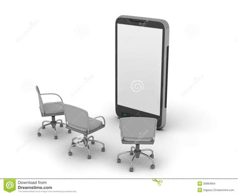 Cell Phone Chair by Cell Phone And Chairs Stock Images Image 26884664