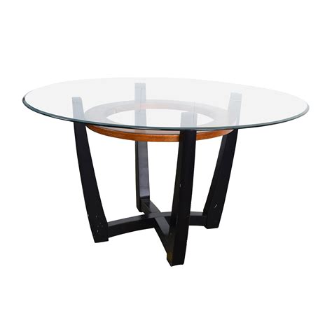 Macys Glass Dining Room Table by 88 Off Macy S Macy S Elation Round Glass Dining Table