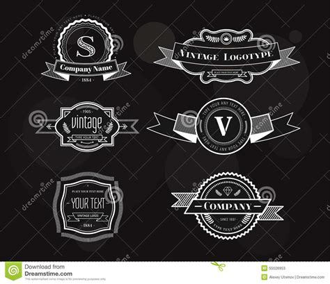 vintage design elements vector set 23 hipster vector vintage logo elements set stock vector