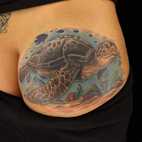 halo tattoo artist seat turtle cover up by artist halo from ink