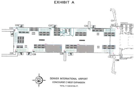 airport layout plan exle denver international airport to bring f b and retail to
