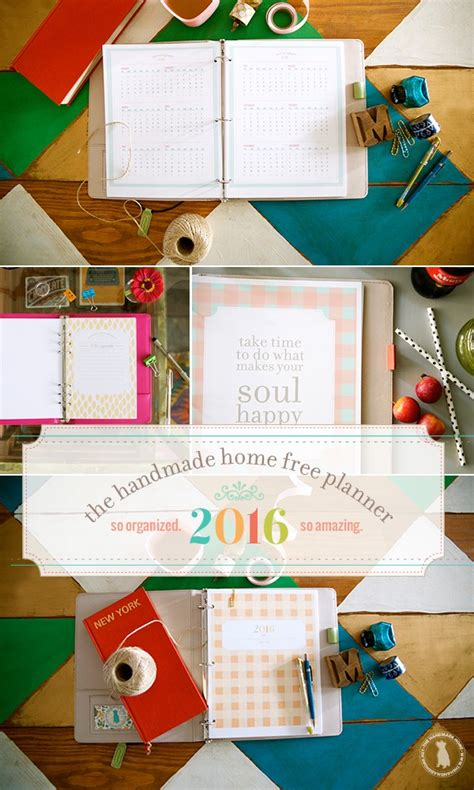 handmade home printable planner free printable 2016 planners calendars sparkles of