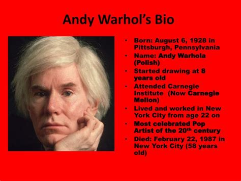 andy warhol biography for students ppt andy warhol coca cola symmetry printmaking