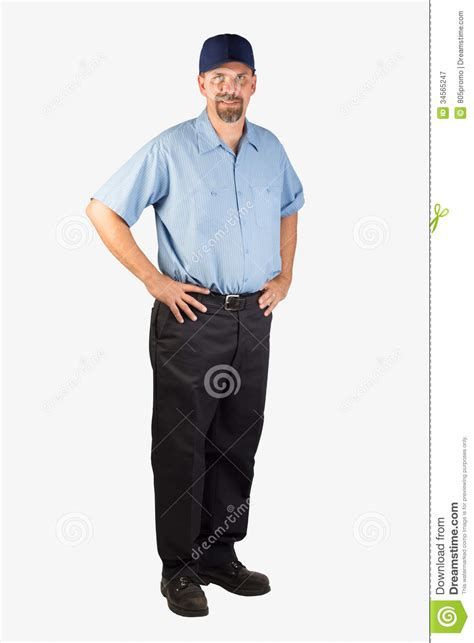 Next Standing L by Service Standing With On Hips Stock Image
