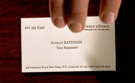 american psycho business card think tank american psycho overthinking it