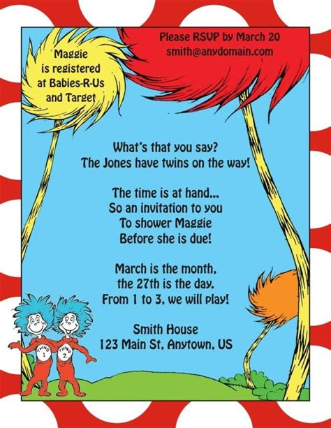 dr seuss birthday card template thing 1 and thing 2 dr seuss birthday or baby shower