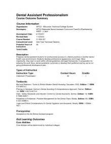 dental assistant cover letter exles certified dental assistant resume sales dental lewesmr