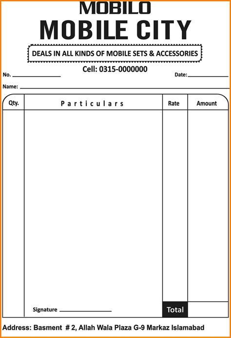 mobile phone receipt template 6 mobile phone bill format sle travel bill