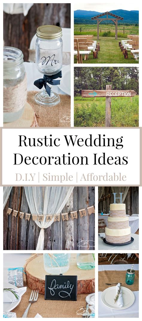 diy decorations rustic rustic wedding ideas that are diy affordable the