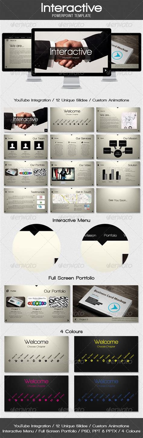 powerpoint interactive templates 205 best images about presentation design on