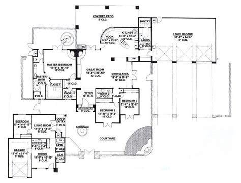 adobe style home plans adobe southwestern style house plan 4 beds 3 5 baths