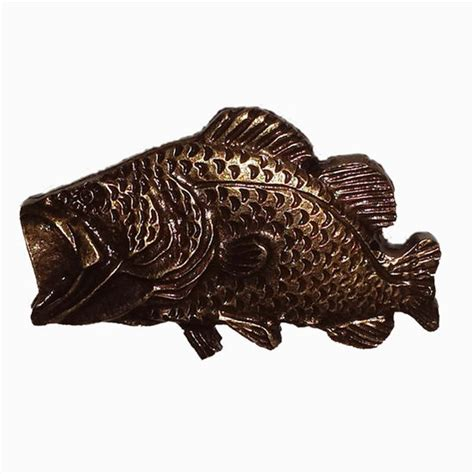 Kitchen Cabinet Hardware Fish Fish Collection Bass Cabinet Knob 2 50mm Wide In