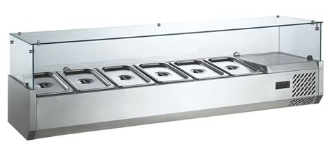table top refrigerated salad bar stainless steel restaurant refrigerated equipment table
