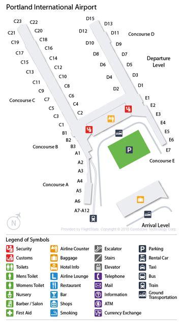 portland airport map cheap airport car rental deals at portland intl oregon usa pdx airport portland