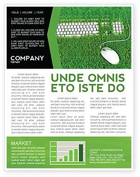 green technology newsletter template for microsoft word