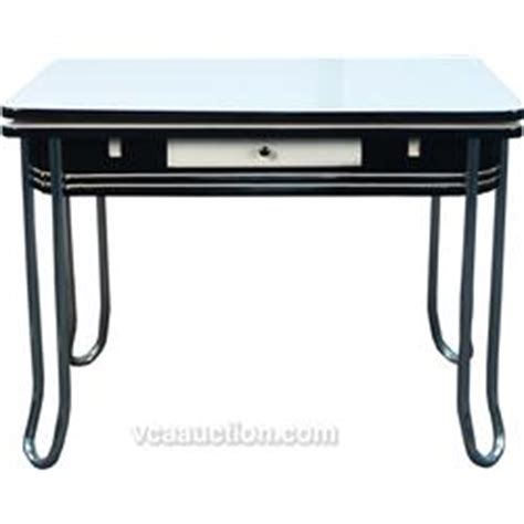 deco kitchen table vintage black white porcelain deco kitchen table