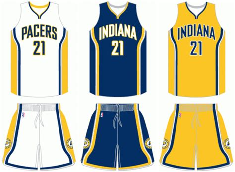 jersey design indiana pacers indiana pacers current uniforms bluelefant