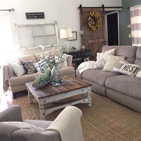 Home Decor Ideas For Living Room - adorable cozy and rustic chic living room for your