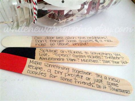 creative day ideas for him diy date jar gift for him tip junkie