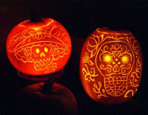 dia de los muertos pumpkin template and day of the dead carvings day of the dead