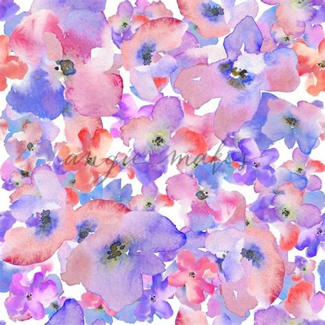 watercolor flower pattern wallpaper modern watercolor floral background pattern red and blue