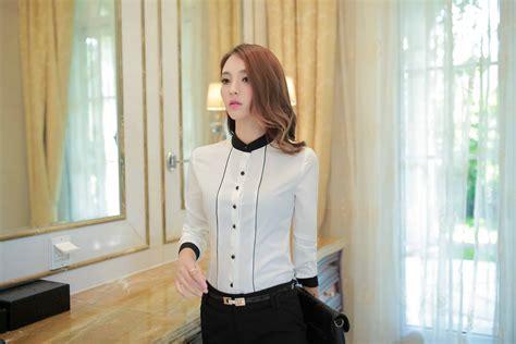 Kemeja Wanita Korea kemeja putih wanita korea cantik 2017 myrosefashion