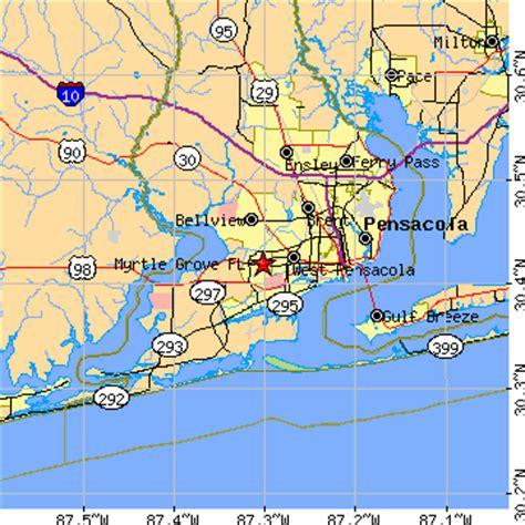 myrtle florida map myrtle grove florida fl population data races