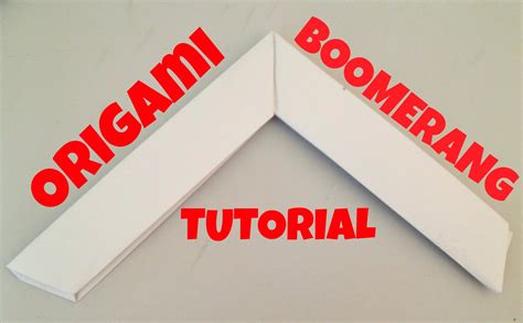How To Make A Boomerang Origami - origami boomerang tutorial l jasminestarler