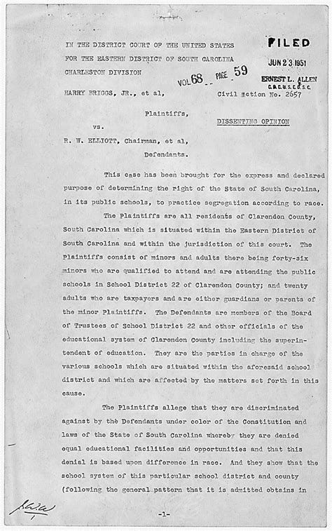 Brown V Board Of Education Essay by Documents Related To Brown V Board Of Education National Archives