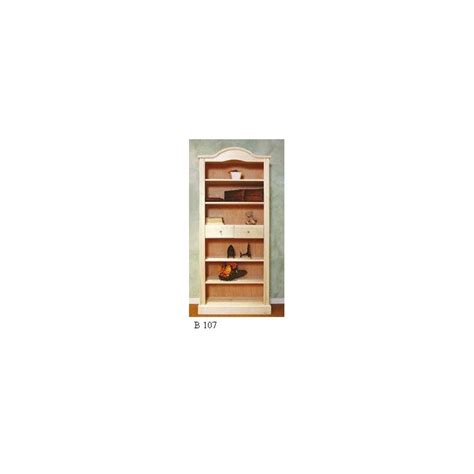librerie in legno grezzo libreria classica a cupola in legno grezzo con cassetti