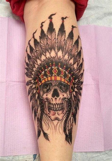 r d tattoo american skull headdress i n k e d a n d p