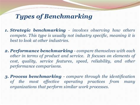 types of bench mark benchmarking in banking financial institutions