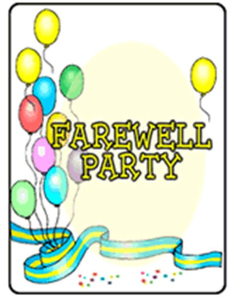 farewell banner template farewell invitation template best template collection