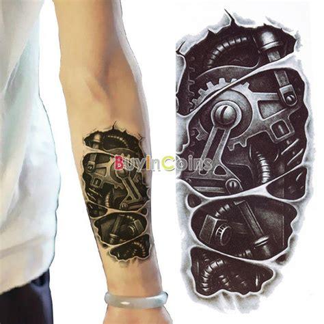 new school robot tattoo fashion 1pcs new 3d waterproof robot arm temporary women