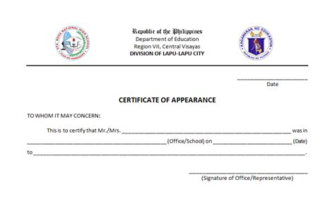 certificate of appearance template the cyberworld of sir fritz marata certificate of