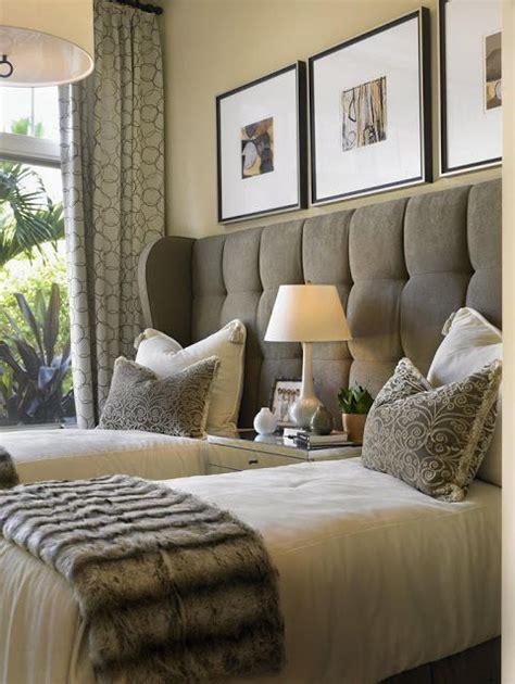 headboard  twin beds great   guest bedroom