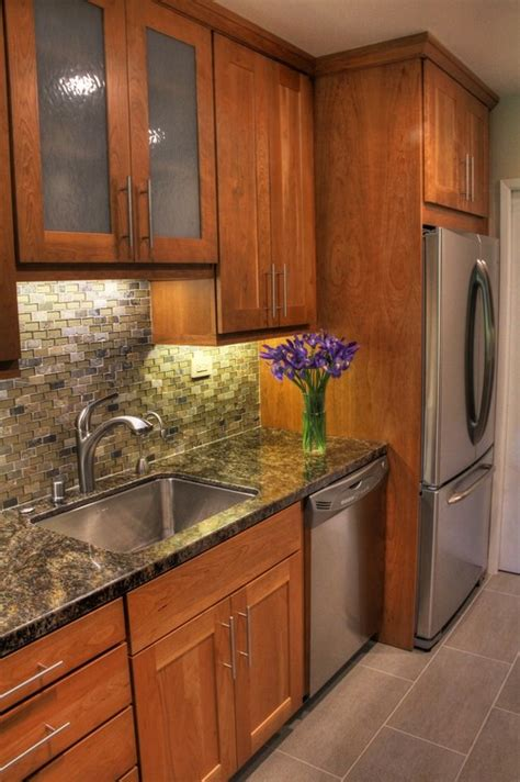 i similar light cherry cabinets tambalata granite and stainless appliances with a