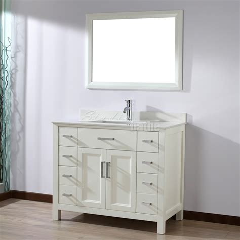 53 inch bathroom vanity studio bathe 42 inch white finish bathroom vanity